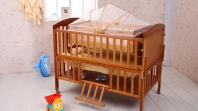 小硕士婴儿床樱桃木系列