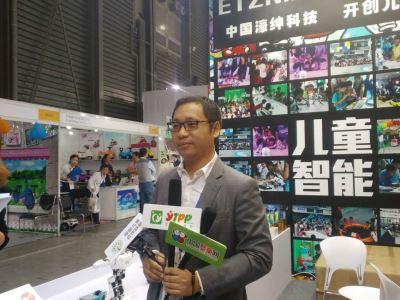 中國玩具展上的品牌戰 眾媒體采訪智匯董事長盧焯權