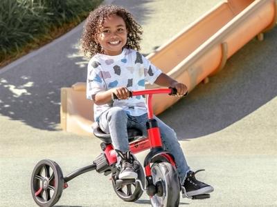 菲乐骑veloflippa儿童三轮手推车3合1遛娃神器平衡车 让妈妈更安心!