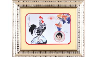 鳳鳴筆莊胎毛畫系列