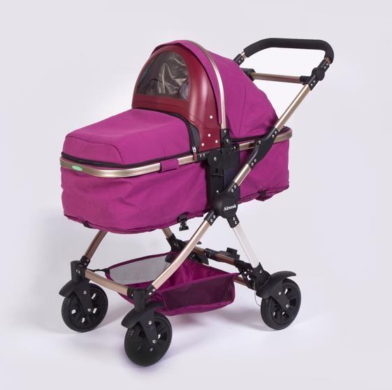 爱瑞可智能空气净化防雾霾婴儿车/手推车(红色款)