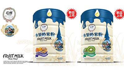 启腾水果奶米粉系列