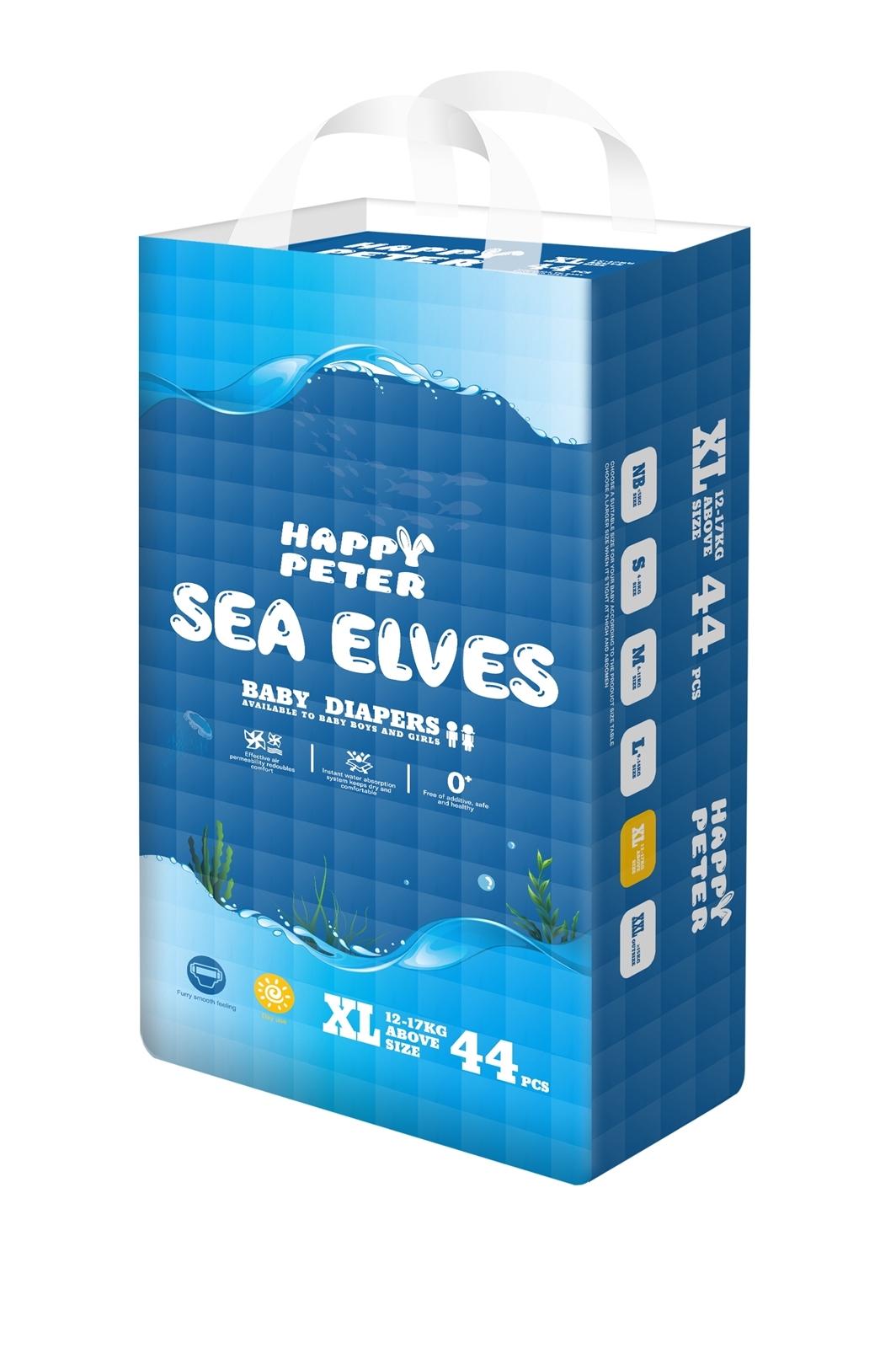 SEA ELVES海精靈弱酸性真絲紙尿褲XL碼