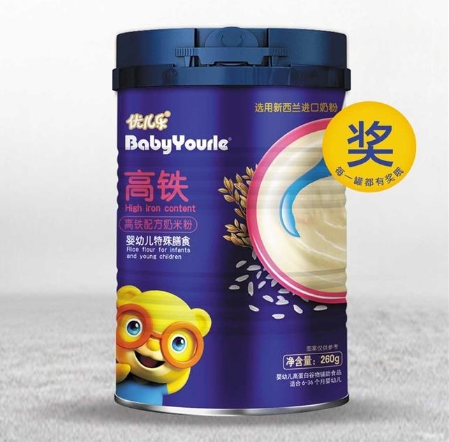 优儿乐高铁高蛋白配方米粉
