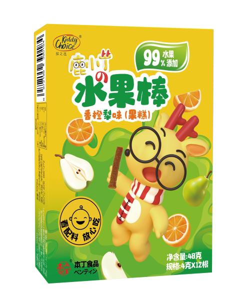 本丁kiddychoice孩之选水果棒(梨香橙味)